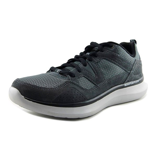 Skechers Quantum-Flex-Country Walker Men Round Toe Synthetic Gray Sneakers