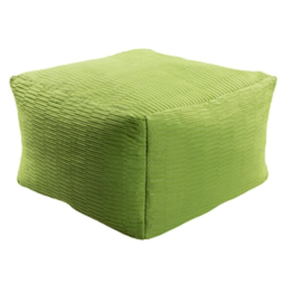 22u201d Pickle Green Square Acrylic Decorative Indoor/Outdoor Pouf Ottoman