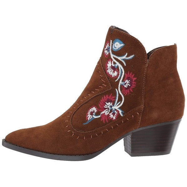 6da255ee2a5 Aldo Womens Vivien Suede Pointed Toe Ankle Cowboy Boots