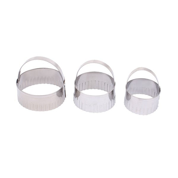 Stainless Steel Cookie Biscuit Baking DIY Mold Mould Cutter 3 in 1 - Silver. Opens flyout.