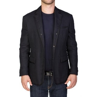 Moncler Men's Gamme Blue Linen Blazer Sportscoat Jacket Navy