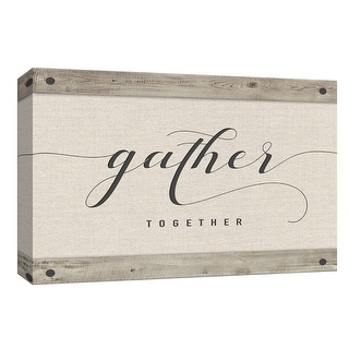 "PTM Images 9-148394  PTM Canvas Collection 8"" x 10"" - ""Gather Together"" Giclee Sayings & Quotes Art Print on Canvas"