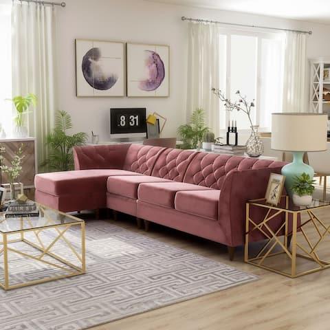 Furniture of America Kestrel Modern Modular Chesterfield Sectional
