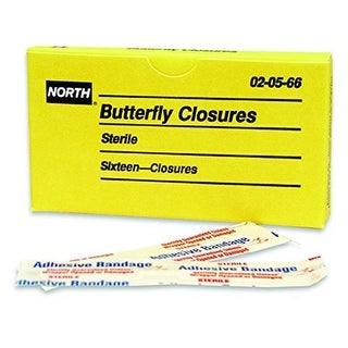 North Safety Butterfly Closure Bandage 16 Per Unit - Pack of 10