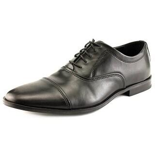 Calvin Klein Nino Men  Cap Toe Leather Black Oxford