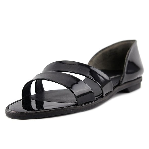 Paul Green Wynn Women Open Toe Patent Leather Black Slides Sandal