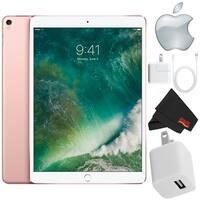 Apple iPad Pro 10.5 inch 64GB, Wi-Fi 4G LTE, Rose Gold Starter Bundle