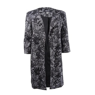 Link to Nine West Women's Printed Jacquard Duster Jacket - Black/Ivory Similar Items in Suits & Suit Separates