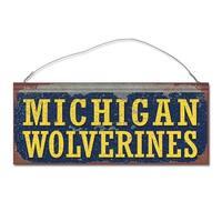 University of Michigan Wolverines Small Tin Sign