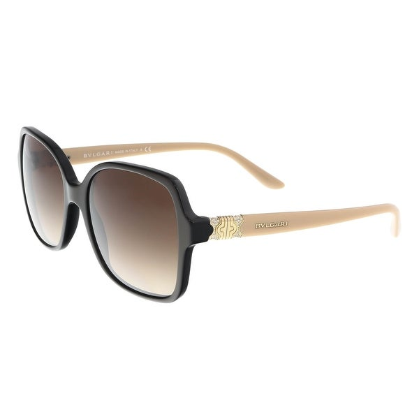 4a336466bf Shop Bulgari BV8164B 897 13 Cocoa Square Sunglasses - 56-17-135 ...