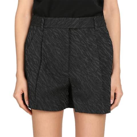 3 1 Phillip Lim Black Cuffed Bermuda Shorts Size 8