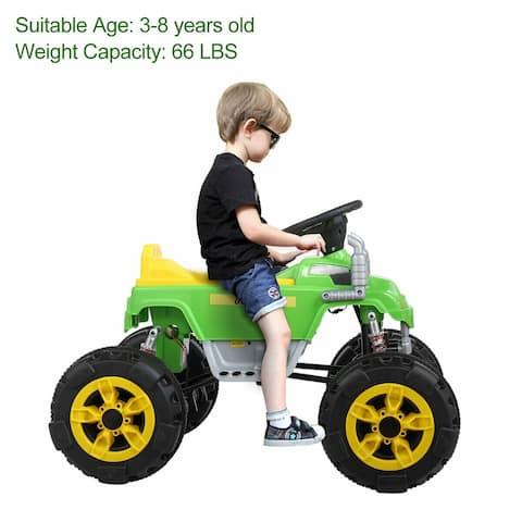 "Green 12v 2 motor children can sit ATV car four-wheel electric car - 7'6"" x 9'6"""