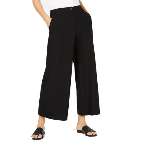Eileen Fisher Women's Dress Pants Black Size 10X29 High Waist Stretch