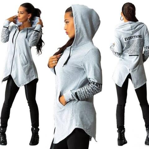 Women Hoodie Sweatshirt Long Sleeve Letter Print Casual Pullover Tops