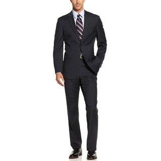 Tommy Hilfiger Keene Regular Fit Navy Striped Suit 40 Long 40L Pants 34W