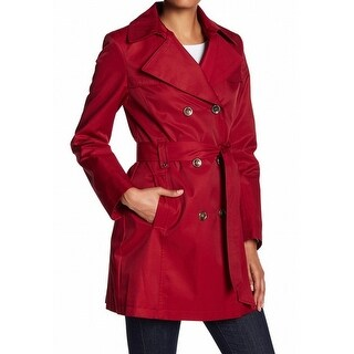 Via Spiga NEW Red Women's Size Medium M Double-Breasted Trench Coat