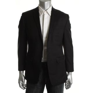 Calvin Klein Mens Wool Long Sleeves Three-Button Suit Jacket - 44S