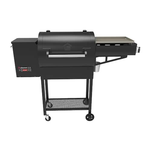 "51"" Precision Wood Pellet Grill & Griddle - Black"