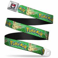 Pok Ball Full Color Black Pokmon Lefeon Face Leaves Pok Balls Greens Seatbelt Belt