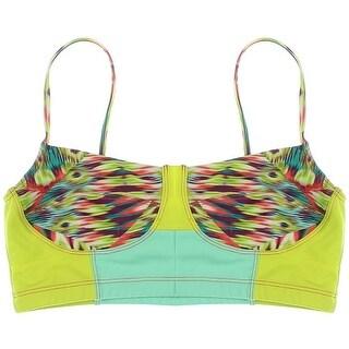 Onzie Womens Colorblock Bustier Swim Top Separates - m/l