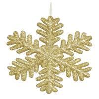 Vickerman M147308 Gold Glitter Snowflake Ornament - 13.75 in.