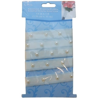 Adhesive Pearl Bouquet Wrap-Ivory - ivory