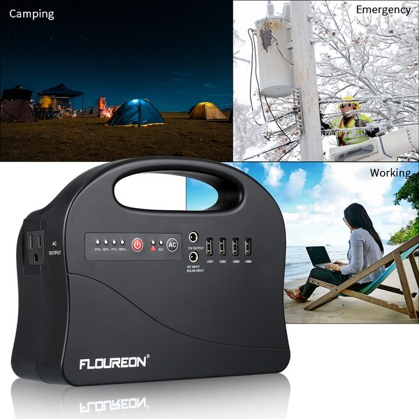 Portable Solar Power Station Energy Storage Power Bank 146Wh 4USB Outdoor Power