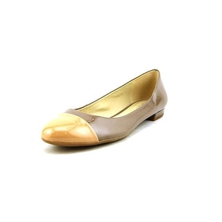 Naturalizer Applause Women Round Toe Patent Leather Nude Flats