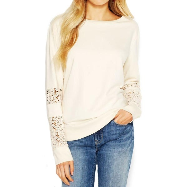 Lucky Brand Womens Sweatshirt Cotton Long Sleeves