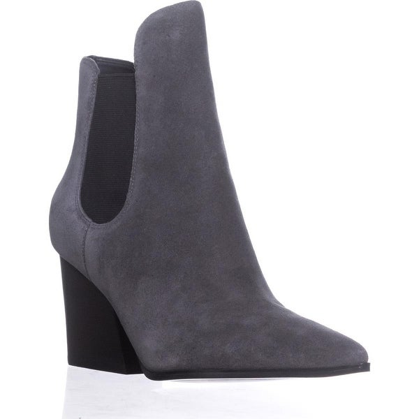 KENDALL + KYLIE Finley Pointed-Toe Ankle Booties, Gray Multi Suede
