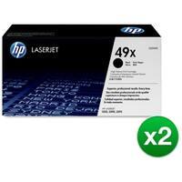 HP 49X High Yield Black Original LaserJet Toner Cartridges (Q5949X)(2-Pack)