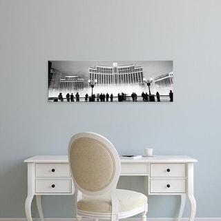 Easy Art Prints Panoramic Image 'Hotel lit up, Bellagio Resort And Casino, Strip, Las Vegas, Nevada' Canvas Art