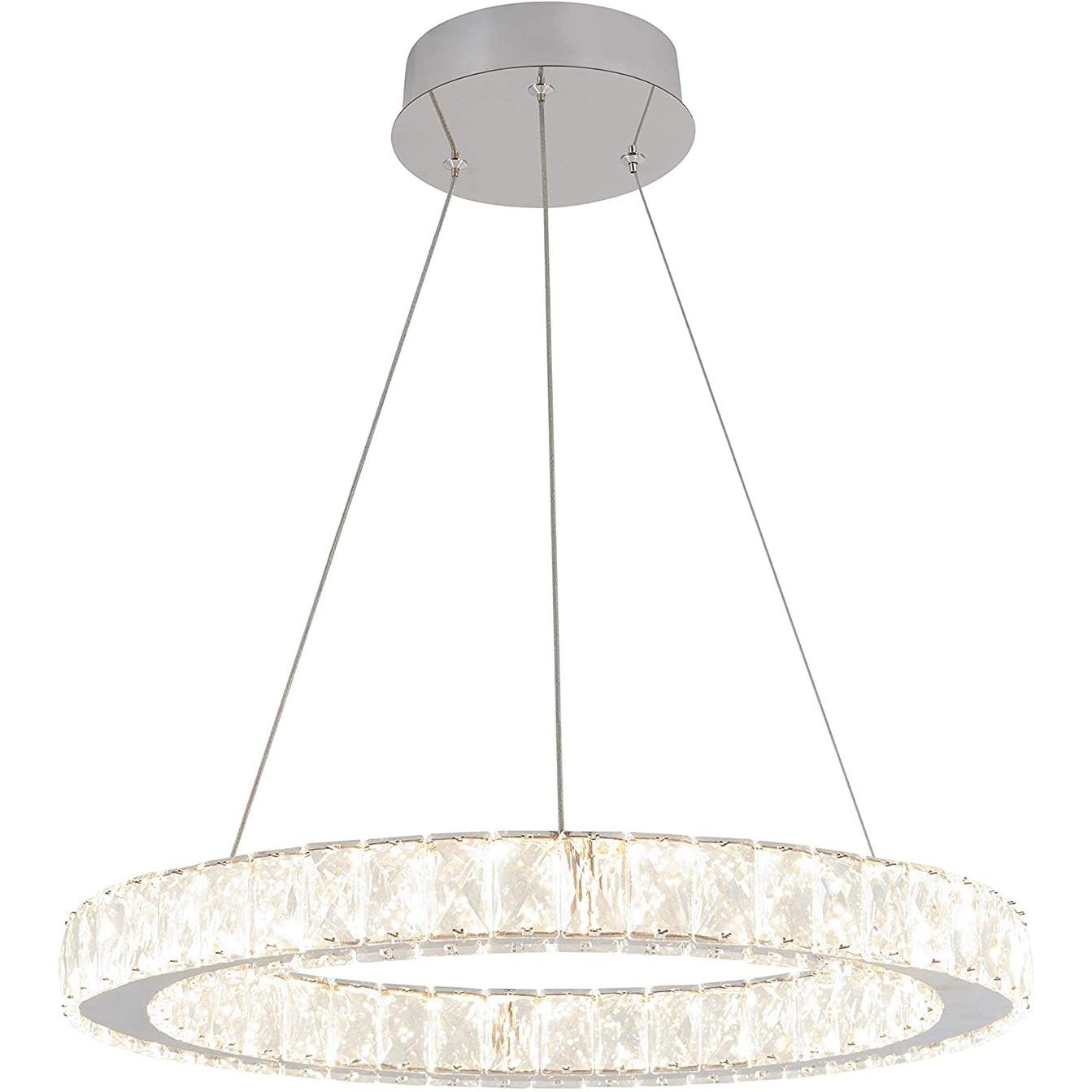 Shop Artika Modern Celebrity Round Rings Crystal Chandelier For Dining Room Chrome Finish Overstock 31484311
