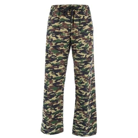 Boxercraft Men's Camouflage Print Flannel Pajama Pants