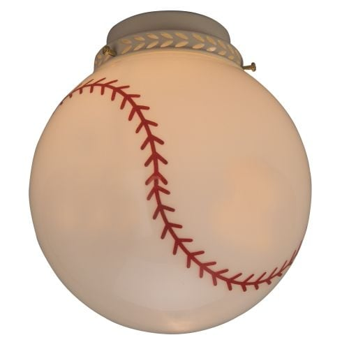 Craftmade 405 Baseball Glass Shade for Craftmade Ceiling Fans - baseball glass