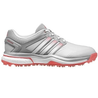 Adidas Women's Adipower Boost Clear Grey/White/Flash Red Golf Shoes Q46608 (Option: 6)