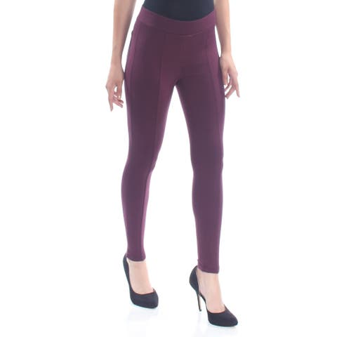 STYLE & CO Womens Burgundy Pants Petites Size: S