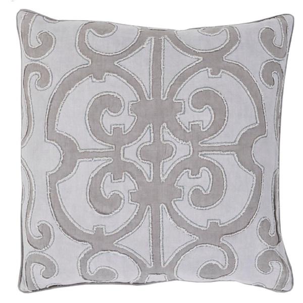 "18"" Princess Dreams Haze Purple and Misty Gray Decorative Throw Pillow"