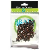Eyelet Outlet  Eyelet Outlet Round Brads 4mm 70/Pkg-Brushed Copper