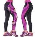 New Women's Printed Gym Running Yoga Pants High Rise Stretch Leggings Sweatpants Winter Trousers - Thumbnail 14