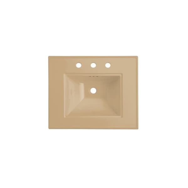 """Kohler K-2345-1 Memoirs Stately 24-1/2"""" Fireclay Pedestal Bathroom Sink with 1 Hole Drilled and Overflow"""