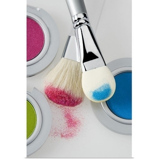 """""""Make-up with brushes"""" Poster Print"""