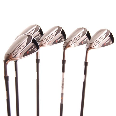 New Cobra F-Max One Length Iron Set 6-PW R-Flex Graphite LEFT HANDED