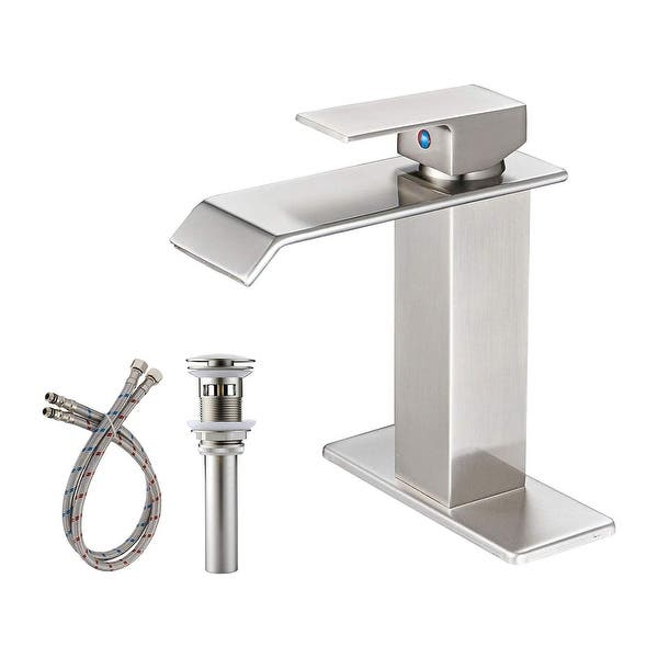Commercial Single Hole Bathroom Faucet With Drain Assembly On Sale Overstock 31762465