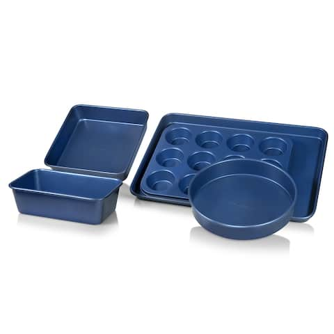 Granitestone Blue Non Stick 5pc Complete Bakeware Set-Dishwasher Safe