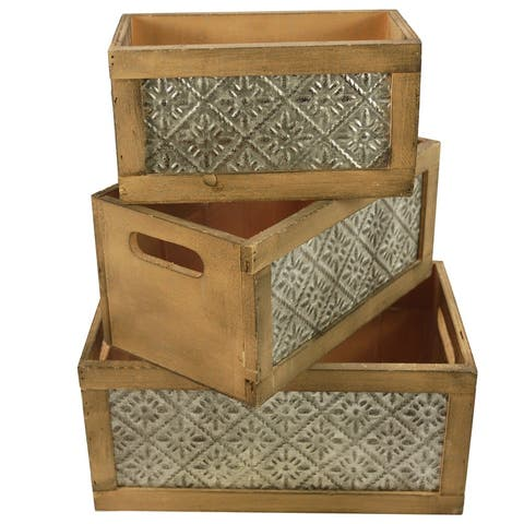 "Wood Nesting Storage Crates, Set of 3 - 8'6"" x 13'"