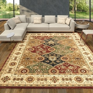 Link to Cazza Mantoni Antique Tan Bohemian Distressed Area Rug Similar Items in Rugs