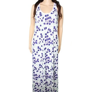 Tommy Bahama NEW Blue Women Size Small S Border Printed Tile Maxi Dress