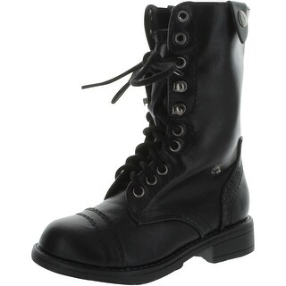 Soda Girl's Oralee Combat Military Boots With Camo