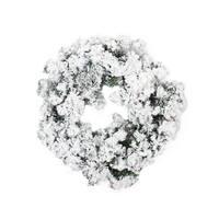 "24"" Heavily Flocked Pine Artificial Christmas Wreath - Unlit - White"